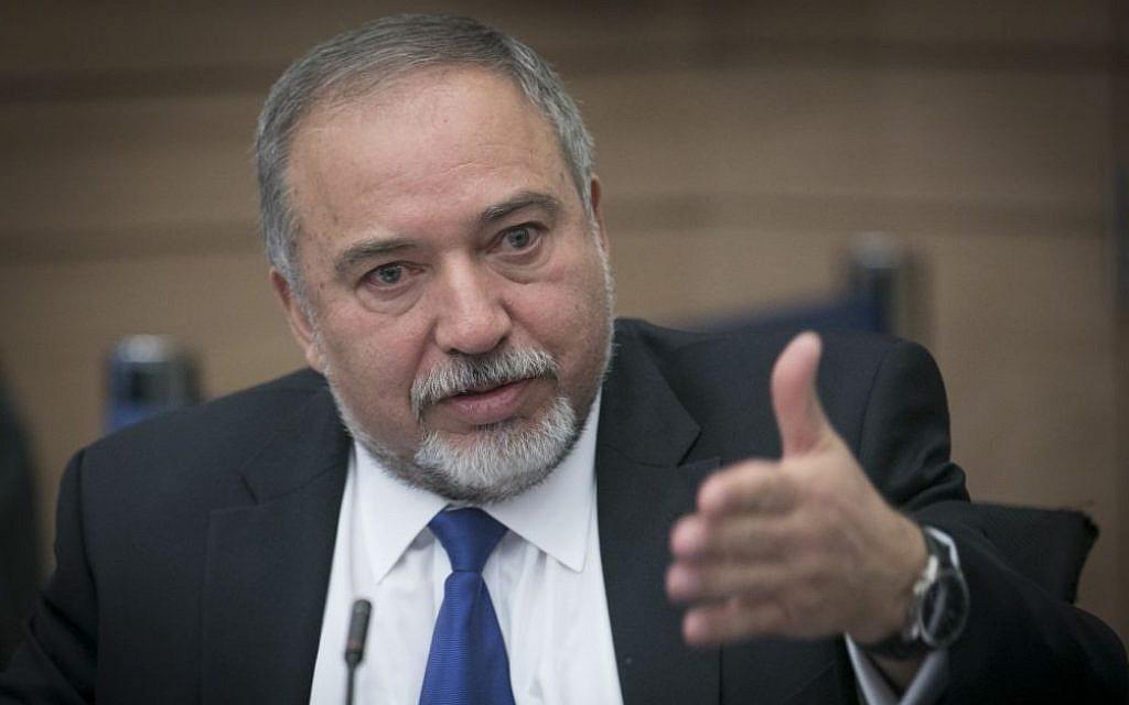 Defense Minister Avigdor Liberman attends a Knesset Finance Committee meeting on Tuesday, December 6, 2016 (Yonatan Sindel/Flash90)