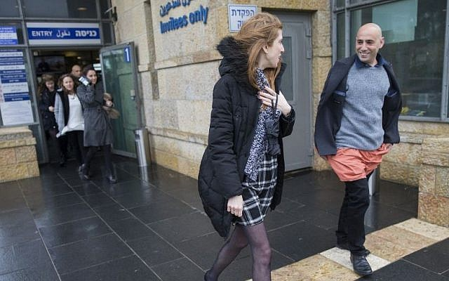 Knesset staffers protest against the dress code in the Knesset, the Israeli Parliament in Jerusalem, December 14, 2016. (Yonatan Sindel/Flash90)