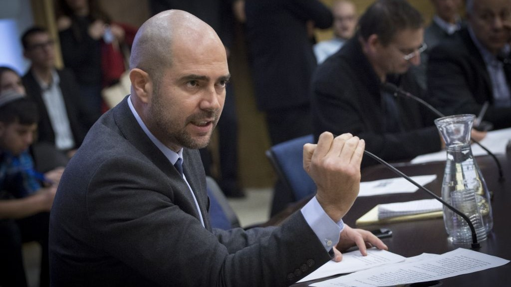 Likud MK Amir Ohana attends a Knesset debate on December 28, 2016. (Miriam Alster/Flash90)
