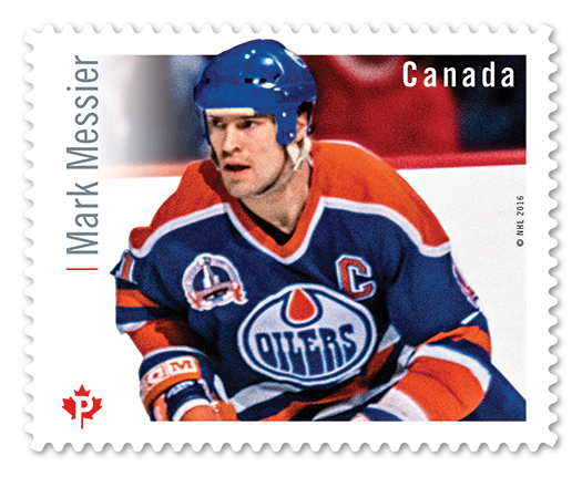 A Mark Messier postage stamp designed by Avi Dunkelman. (Courtesy)