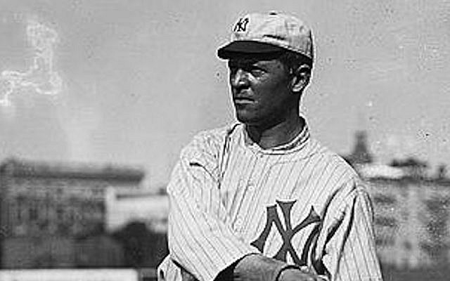 Guy Zinn played five major league seasons between 1911 and 1915, including a stint as a New York Highlander (later the Yankees). (Wikimedia Commons via JTA)