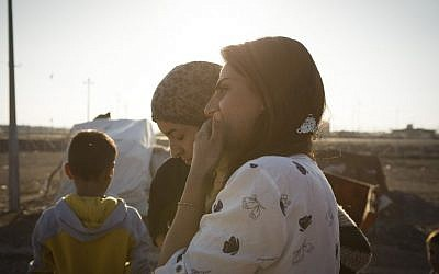 Yazidi refugees in an IDP camp in Duhok, Iraq, August 2016. (IsraAID)