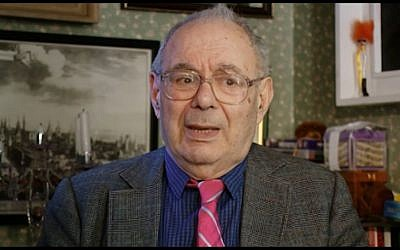 Rabbi Lionel Blue at the Sandford St Martin Awards, 2010 (Screen capture: YouTube)