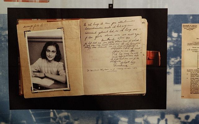 A photo of Anne Frank at the opening of the 2009 exhibition: 'Anne Frank, a History for Today,' at the Westerbork Remembrance Centre in Hooghalen, northeast Netherlands. (AP Photo/Bas Czerwinski, File)