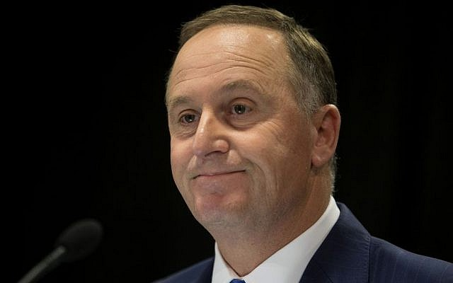 New Zealand Prime Minister John Key announces his decision to resign and stand-down from politics at a press conference in Wellington, New Zealand, December 5, 2016. (Mark Mitchell/New Zealand Herald via AP)