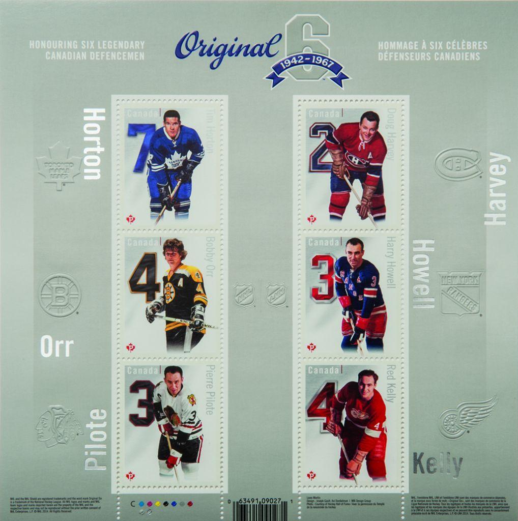 The 'Original Six' series, featuring six legendary Canadian defensemen. (Courtesy)