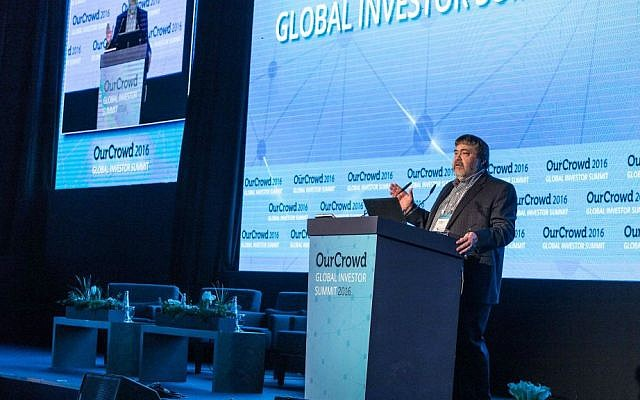 OurCrowd's Jon Medved speaks at 2016 Global Investor Summit  (Courtesy)