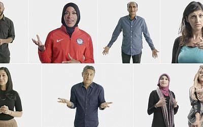 Clockwise from top left: Omar Regan, Ibtihaj Muhammad, Iqbal Theba, Zahra Noorbakhsh, Amani Al-Khatahtbeh, Linda Sarsour, Reza Aslan, Dena Takruri. (Courtesy 'Secret Life of Muslims')