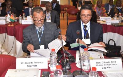 Delegates from West Africa at an agricultural conference in Israel, December 5, 2016 (courtesy Mashav)