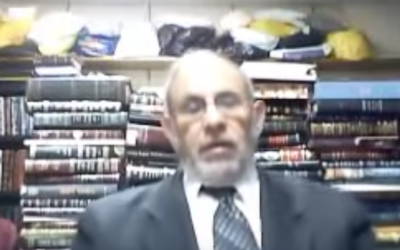 Rabbi Yehuda Kelemer (YouTube screenshot)