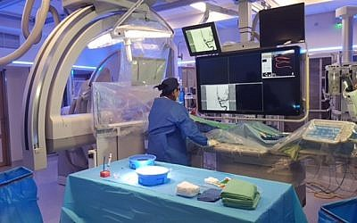 Doctors at the Soroka Medical Center in Israel performed brain surgery in a live Facebook broadcast. (Courtesy of Soroka Spokesperson's Office)