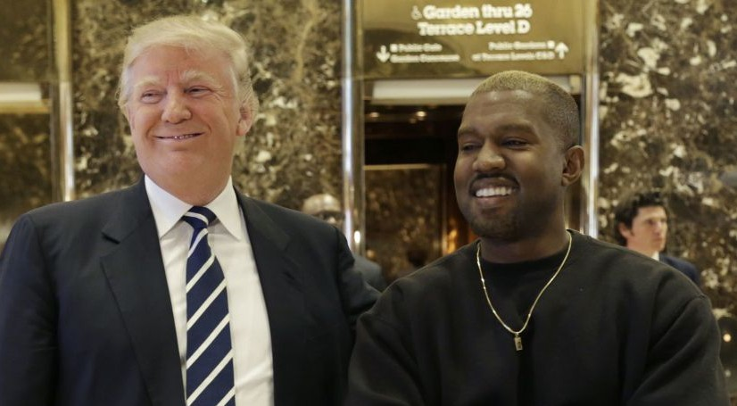 President-elect Donald Trump and Kanye West pose for