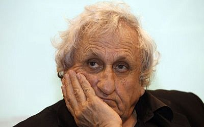 Israeli writer A.B. Yehoshua at a writers conference in Jerusalem, February 7, 2013. (Gali Tibbon/AFP/Getty Images via JTA)