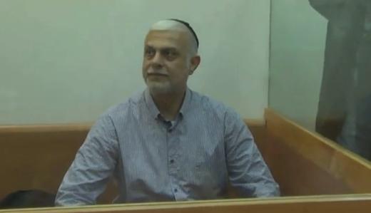 Former MK Amnon Coehn appearing at the Rishon Lezion Magistrate's Court, December 7, 2016. (Screenshot: Walla)