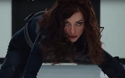 Scarlett Johansson as Natasha Romanoff AKA Black Widow in Iron Man II (screen capture: YouTube)