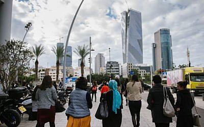 Illustrative. KamaTech's bus load of Haredi women visit high tech offices in Tel Aviv and Jerusalem (Courtesy: Natalie Schor)