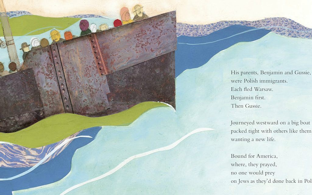 Text and images from 'A Poem for Peter,' a tribute to Ezra Jack Keats by Andrea Davis Pinkney. (Courtesy of Penguin Random House/via JTA)