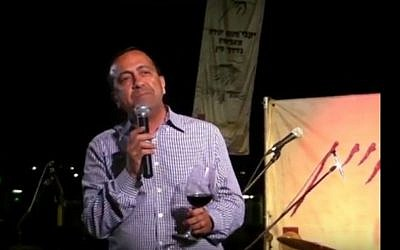 Mateh Yehuda Regional Council head Moshe Dadon (screen capture: YouTube)