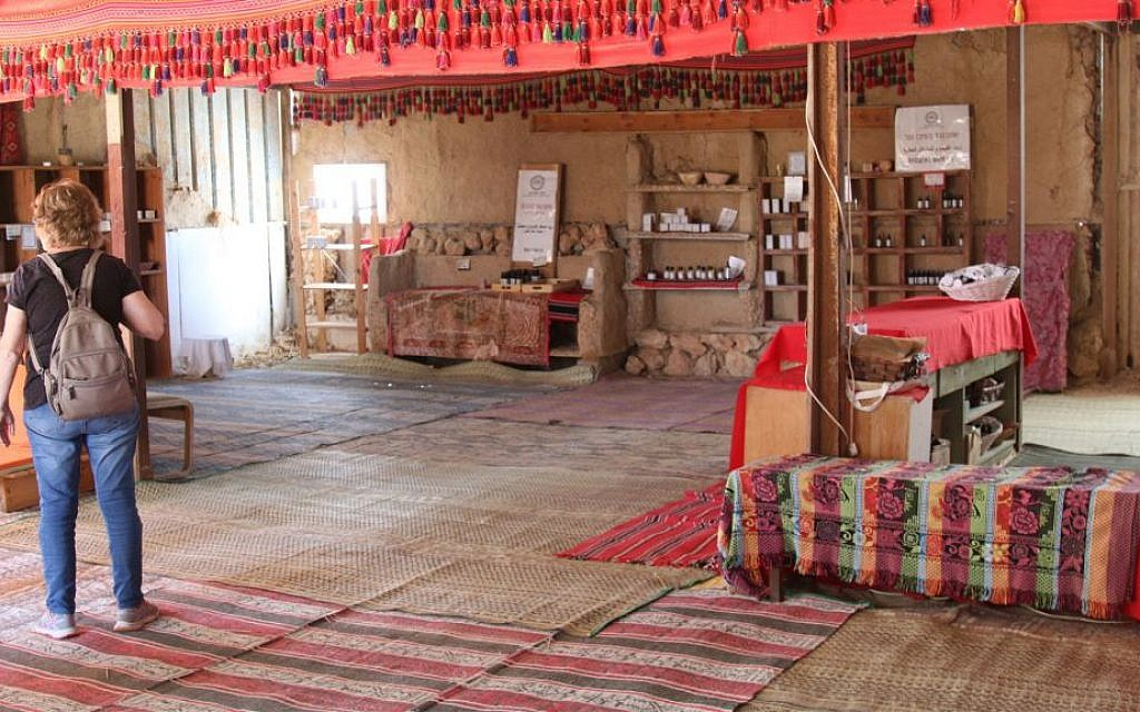 The interior of a visitors' center called Daughter of the Desert in the Bedouin village of Tel Sheva. (Shmuel Bar-Am)
