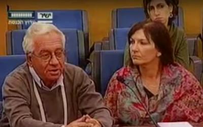 Head of the Israeli Anti-Drug Authority Eitan Gorani speaking at the Knesset on Monday December 12, 2016. (Screen capture: Youtube)
