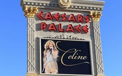 Caesars Palace Hotel and Casino advertising performer Celine Dion On July 2, 2012. Getty Images/iStock/ffooter)