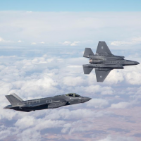 Israel's first two F-35 stealth fighter jets on their maiden flight as part of the Israeli Air Force on December 13, 2016. (Israel Defense Forces)