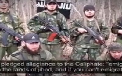 Islamic State fighters in the Caucasus region (screen capture)