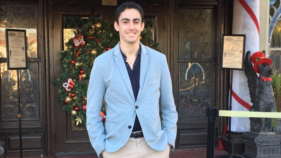 Boston University business student Ariel Lavi in 2015 (Facebook)