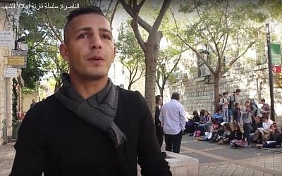 Image of children (in background) at the 'Nazareth Reads' event on December 10, 2016 in Nazareth in northern Israel. (YouTube screenshot from Arab48 newssite)