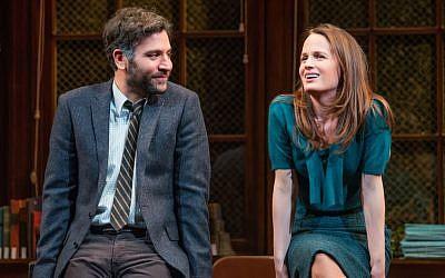 Josh Radnor and Elizabeth Reaser in 'The Babylon Line' (Jeremy Daniel/via JTA)