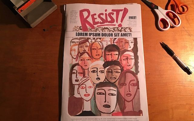 An early draft of the RESIST! comic zine cover (Courtesy of Nadja Spiegelman)