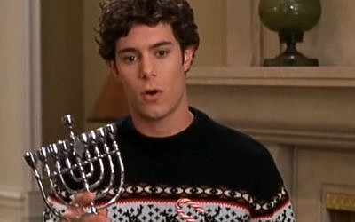 Seth from The O.C. presents Chrismukkah (YouTube screenshot)