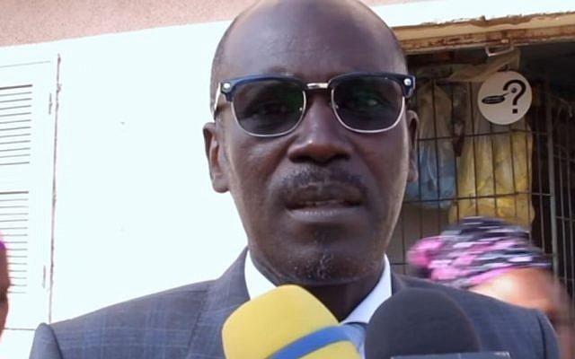 Senegal government spokesperson Seydou Gueye, November 2016 (Screen capture: YouTube)