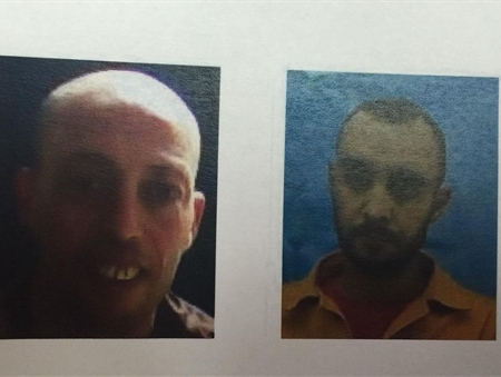 Muhammad Masri (L) and Abd Allah Abu Ayash were arrested on suspicion of planning attacks against Israeli soldiers in the Negev. (Courtesy/ Shin Bet )