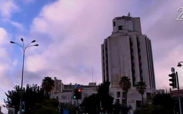 The King Solomon Hotel in downtown Jerusalem. (Screen capture Channel 2)