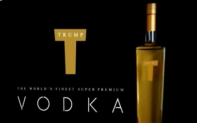 A still image taken from an advert for Trump Vodka (screen capture: YouTube)