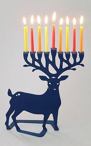 Oy Deer Menorah by Alef Objects (Alef Objects)