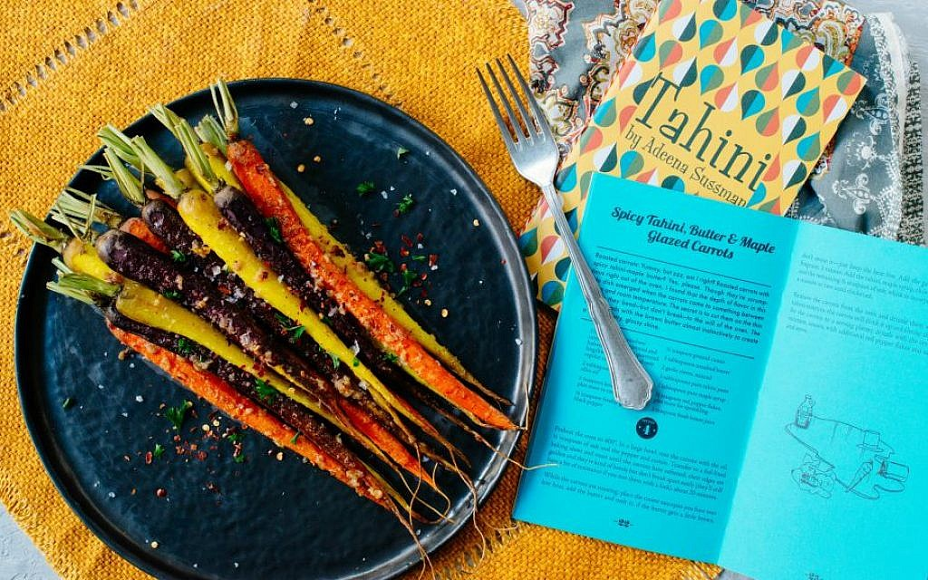 Spicy tahini, butter and maple-glazed carrots from Adeena Sussman's Short Stack Tahini cookbook (Courtesy Lauren V. Allen)