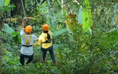 Illustrative: People on the 'Flight of the Gibbon' zipline tour in Chaing Mai, Thailand. (screen capture: YouTube)