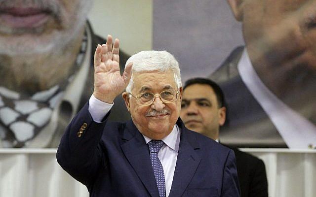 Palestinian Authority President Mahmoud Abbas gestures on January 6, 2017, in Beit Sahur, near the West Bank city of Bethlehem. (AFP/Hazem Bader)