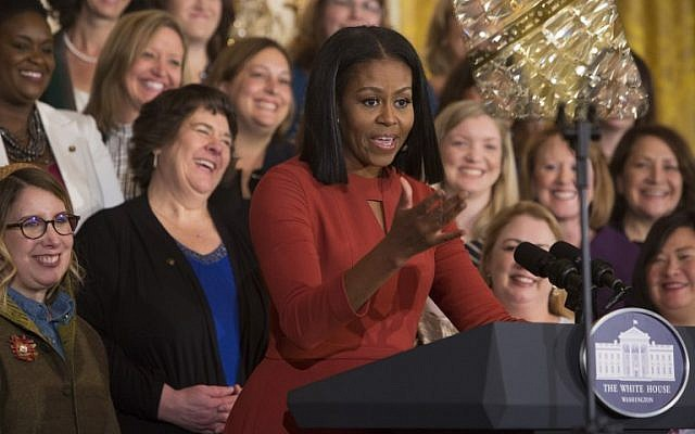 Michelle Obama gives her final remarks as US First Lady at the 2017 School Counselor of the Year event at the White House in Washington DC, January 5, 2017. (AFP/Chris Kleponis)