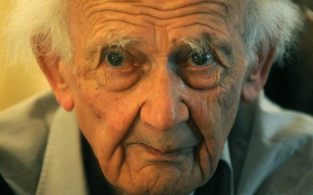 This file photo taken on October 22, 2012 shows Zygmunt Bauman, Polish-born British sociologist and philosopher during the 16th Forum 2000 Conference in Zofin Palace in Prague. (AFP / MICHAL CIZEK)