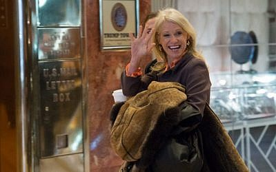 Kellyanne Conway arrives for meetings with US President-elect Donald Trump at Trump Tower in New York on January 10, 2017. (AFP Photo/Bryan R. Smith)