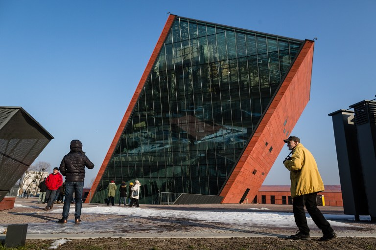 The Museum of Second World War is pictured on January 29, 2017 during the open days ahead the official opening planned for the end of February in Gdansk, Poland. (AFP PHOTO / Wojtek RADWANSKI)
