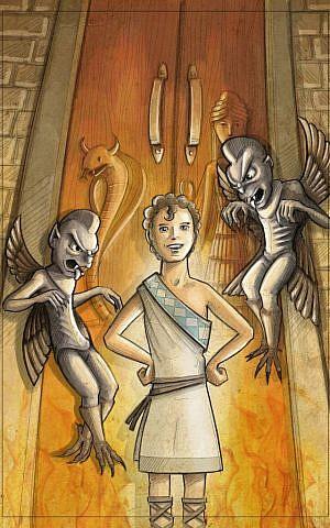 The young demigod Gilgamesh, in Shirley Graetz's second volume of the series, 'Gilgamesh at the Underworld' (Courtesy Uriel Zohar)