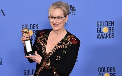 Meryl Streep poses in the press room during the 74th Annual Golden Globe Awards at the Beverly Hilton Hotel on January 8, 2017 in Beverly Hills, California.   (Alberto E. Rodriguez/Getty Images/AFP)