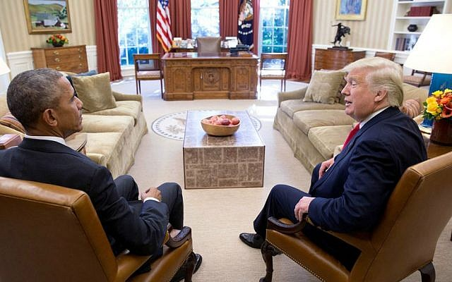"""""""Two days after the election, the president meets with President-elect Donald Trump,"""" Nov. 10, 2016. (Official White House photo/Pete Souza)"""
