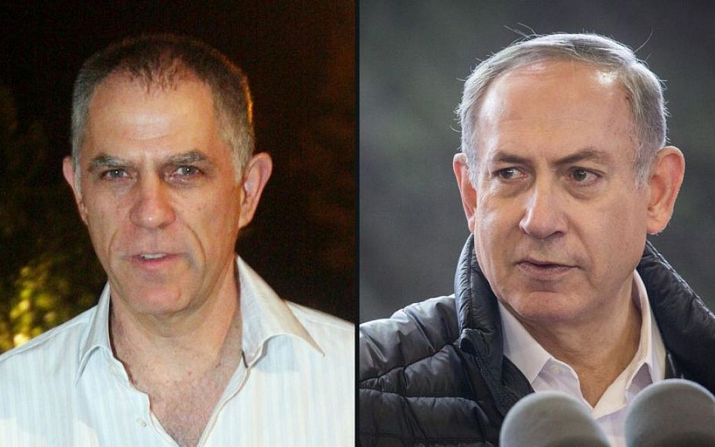 Prime Minister Benjamin Netanyahu (right) and Yedioth Ahronoth publisher Noni Mozes (composite image: Flash90)