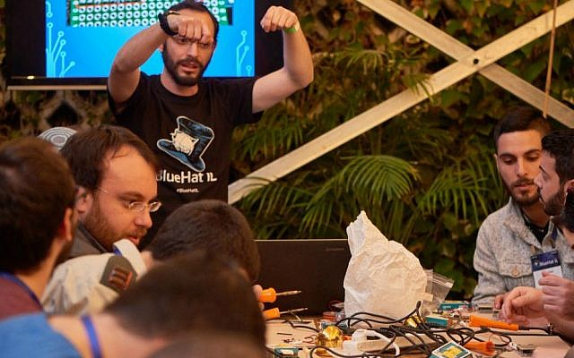 Participants at Microsoft's first BlueHat cybersecurity conference in Tel Aviv on 24-15 January 2017 take part in workshops (Courtesy)