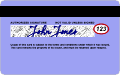 The card security code, also known as the CVV, circled in red. (CC BY-SA, Wikimedia Commons)
